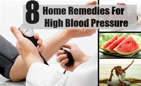 Home Remedy For High Blood Pressure by 8 Home Remedies For High Blood Pressure