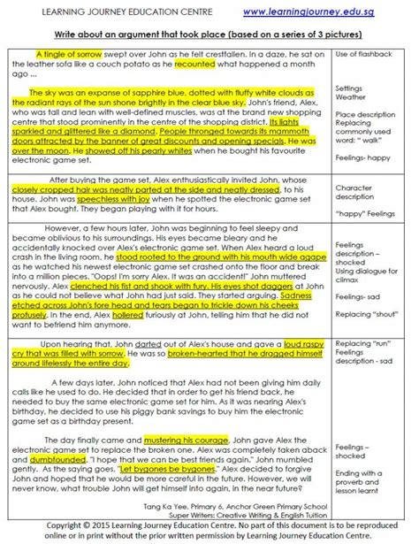 Report Writing Composition by Model Compositions Primary Learning Journey Education Centre