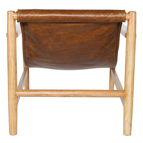 brown leather recliner armchair sling recliner armchair in brown leather wood home