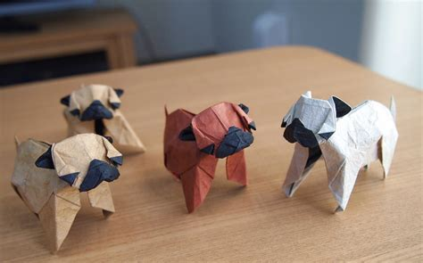 How To Make An Origami Pug - fluidr origami pugs by lonely shiba