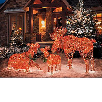 lighted moose christmas decorations christmas trees  outdoor christmas lights wreaths