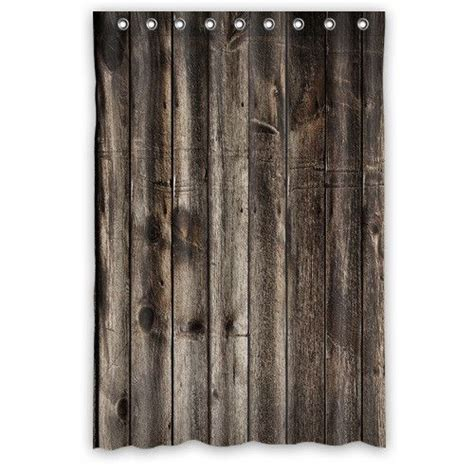 wood shower curtain 48 quot x 72 quot vintage rustic old barn wood shower curtains