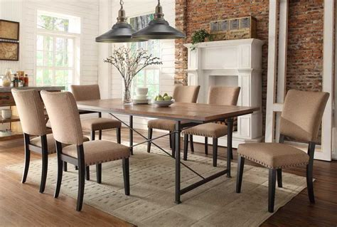 rustic eclectic dining room hardwood brick metal w appealing rustic chic dining room ideas pictures best