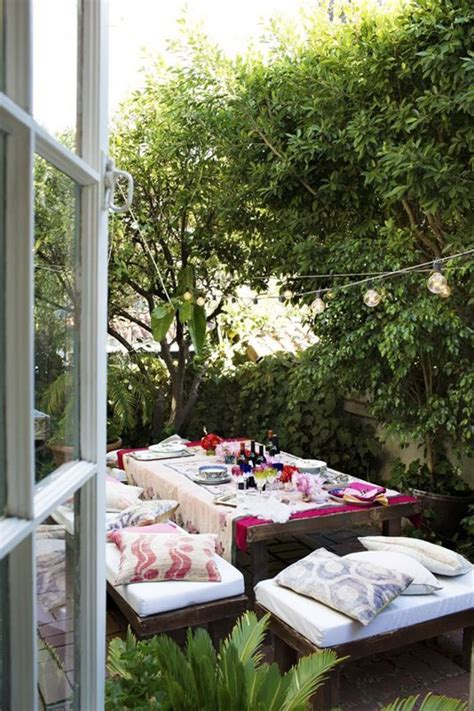 cozy outdoor spaces small and cozy bohemian outdoor spaces house design and