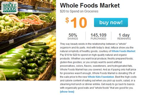 Living Social Gift Cards - livingsocial knocks 50 percent off whole foods gift cards tricia duryee commerce