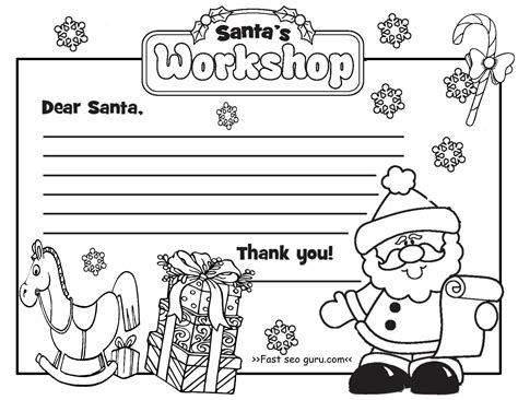 coloring pages letter to santa printable christmas letter to santa claus write template