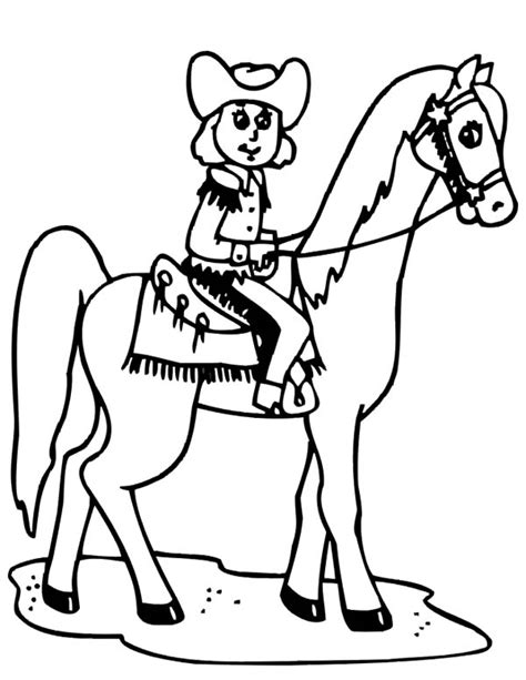 coloring pages of cowgirls and horses and coloring page pages grig3 org