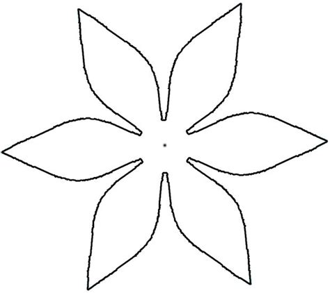 cut out flower petal pattern clipart best