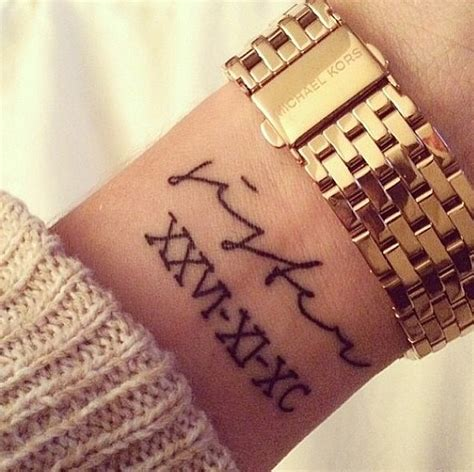 roman numeral tattoos wrist beautiful numeral with letter on wrist