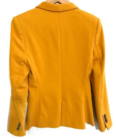 mustard color blazer zara blazer tradesy