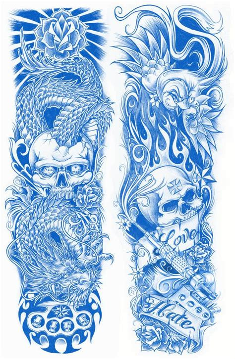 sleeve tattoo design template sleeve design both sides tattoos picture half