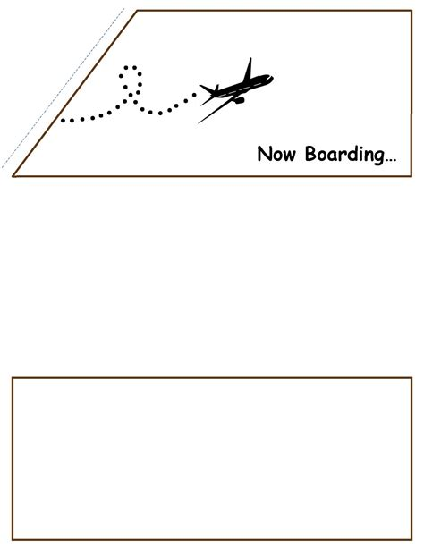 Boarding Card Templates by Card Boarding Card Template