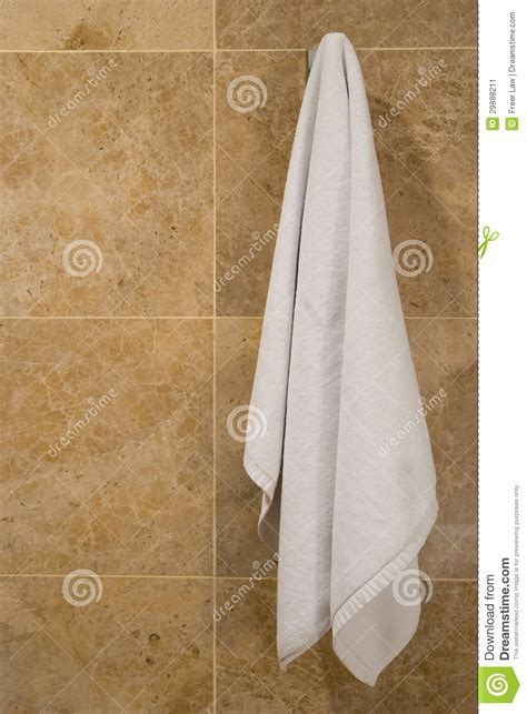 towel hanging stock image image  room clean cotton