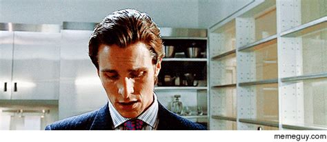 Christian Bale American Psycho Shower by Psycho Gif Find On Giphy