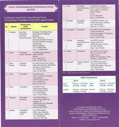 e perkhidmatan kementerian pendidikan malaysia pusat perkhidmatan pendidikan khas 3pk kementerian