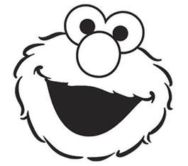 template elmo face coloring page sesame street cookie monster sketch template - Cookie Monster Face Coloring Pages