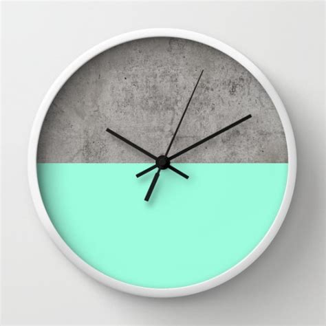Buy Turquoise & Concrete Modern Wall Clocks at 20% off