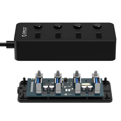 Usb Hub Usb Port Switch On orico usb 3 0 high speed usb hub 4 port with on switch w9ph4 v1 black jakartanotebook