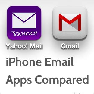 email yahoo vs gmail gmail vs yahoo mail for iphone two alternative email apps