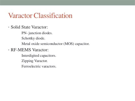 varactor diode disadvantages varactor diode disadvantages 28 images voltage