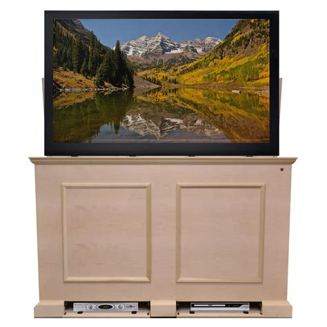elevate tv lift cabinet grand elevate unfinished tv lift cabinet