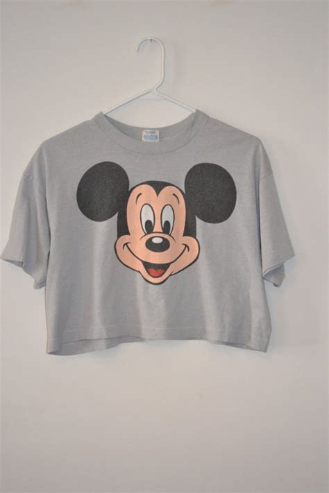 I Mickey Crop Rumbai Tshirt vintage mickey mouse crop top mickey mouse and mice