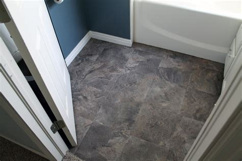 Bathroom Flooring Vinyl Ideas peel and stick bathroom floors chris loves julia