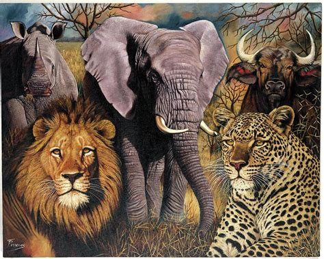 Home Decor Blogs South Africa by African Big Five Painting By Patricia Perrevos