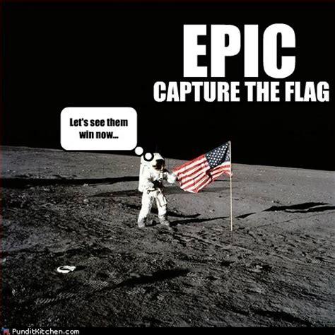 Memes Landing - flag on moon memes