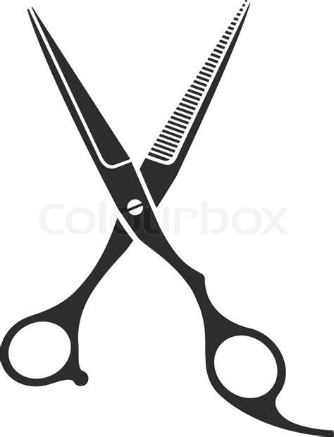 vintage barber shop scissors logo label badge and