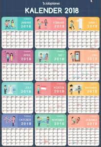 Kalender 2018 Tiket Kalender 2018 Indonesia