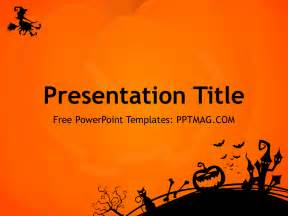 free halloween powerpoint template pptmag