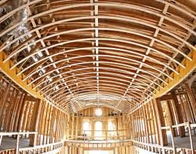 vault ceiling barrel vault ceiling kits prefabricated barrel ceilings archways ceilings