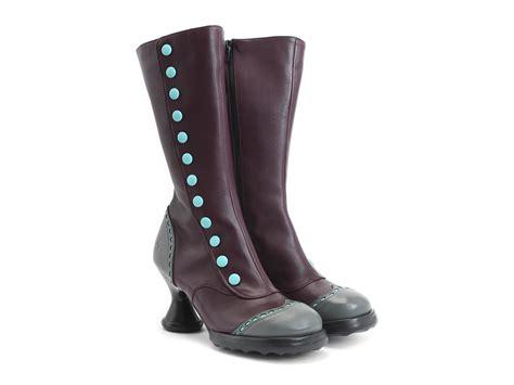 fluevog boots fluevog shoes shop babycake purple teal mid