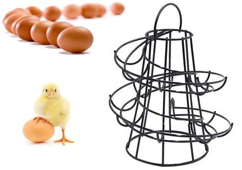 helter skelter spiral egg holder holds 18 eggs swirl