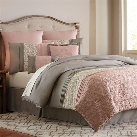 blush colored bedding vcny 8 blush clover comforter set pink shop your