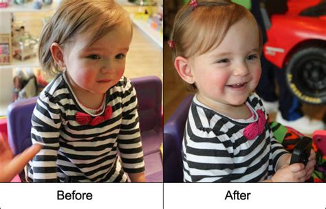 toddler haircuts before and after the first haircut is the deepest