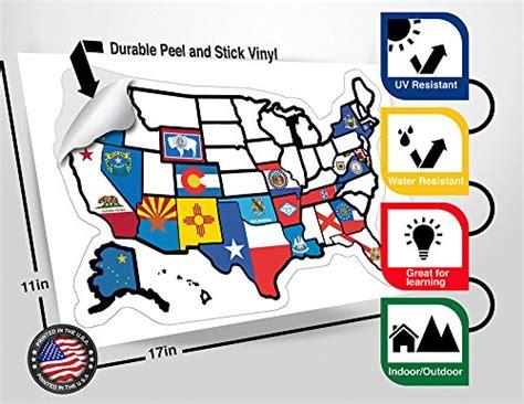 rv united states sticker map rv state sticker travel map 13 quot x 17 quot usa states