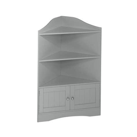 Riverridge Home Ashland Collection 24 4 5 In W X 36 In H Corner Storage Cabinet For Bathroom