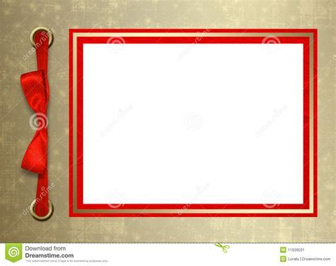 Card For Congratulation With Gold Frame Stock Image