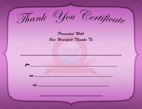 thank you certificate template free 8 best images of thank you templates for word thank you