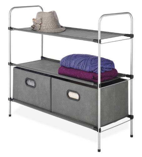 Closet Storage Shelves And Drawers Whitmor Closet Organizer Storage Rack Shelves Collapsible