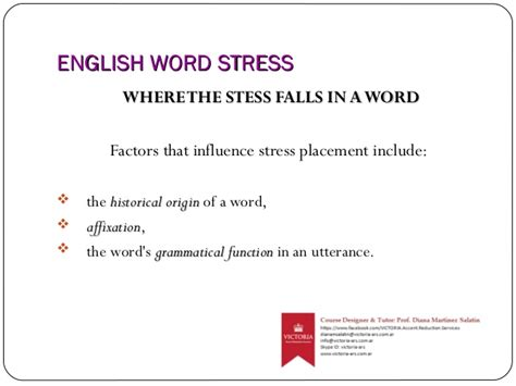 stress pattern in french english word stress