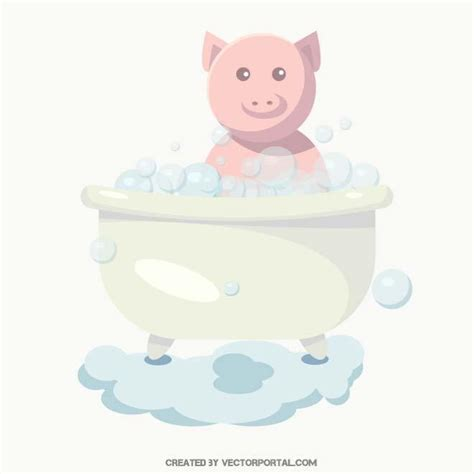 pig in bathtub pig in the bathtub download at vectorportal