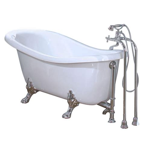 bathtub home depot maax daydream chrome clawfoot bathtub in white the home