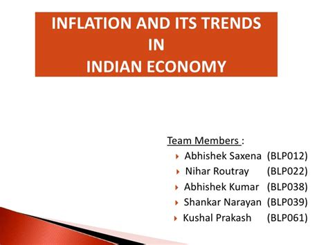 Mba Ppt On Inflation by Inflation And Its Trends In Indian Economy