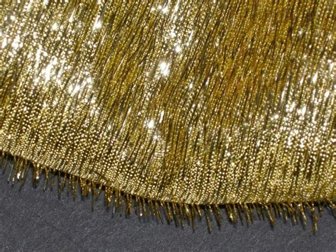 bty x40 quot w shag gold metallic fabric specialty lame fabric