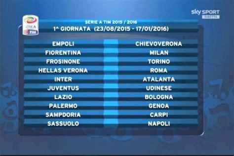 Calendario 2015 Serie A Serie A 2015 2016 Sorteggiato Il Calendario