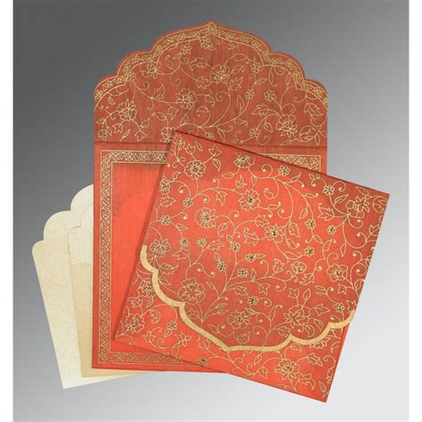 wedding invitations printing in bangalore coral wooly floral themed screen printed wedding invitation cw 8211f indianweddingcards