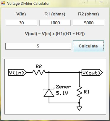 resistor divider calculation software voltage divider network calculator hobbybotics